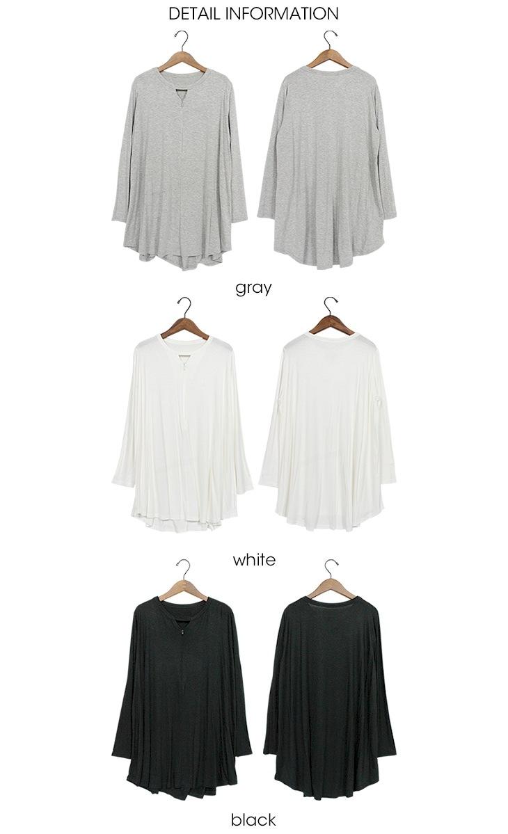 授乳Vカットソー[マタニティ服/授乳服]18c14