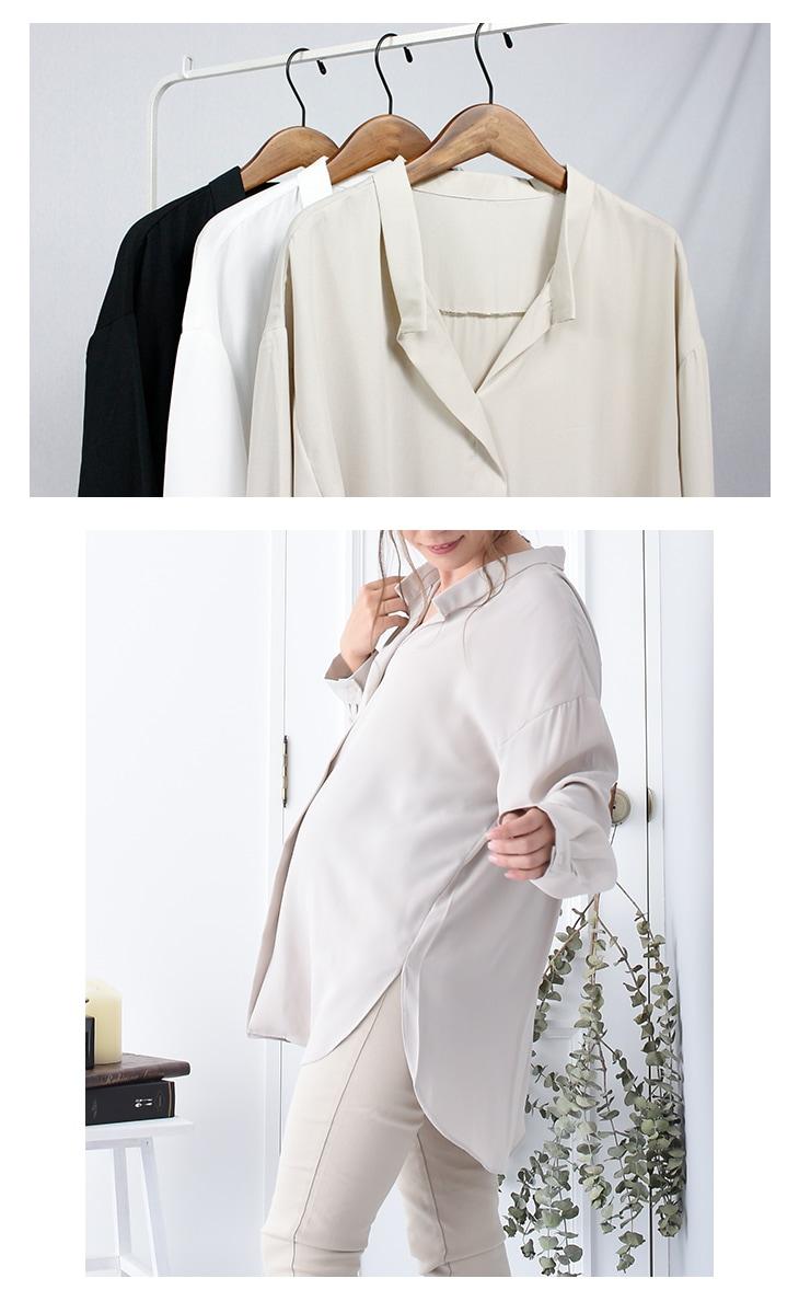 シフォンシャツ[マタニティ服]18c20