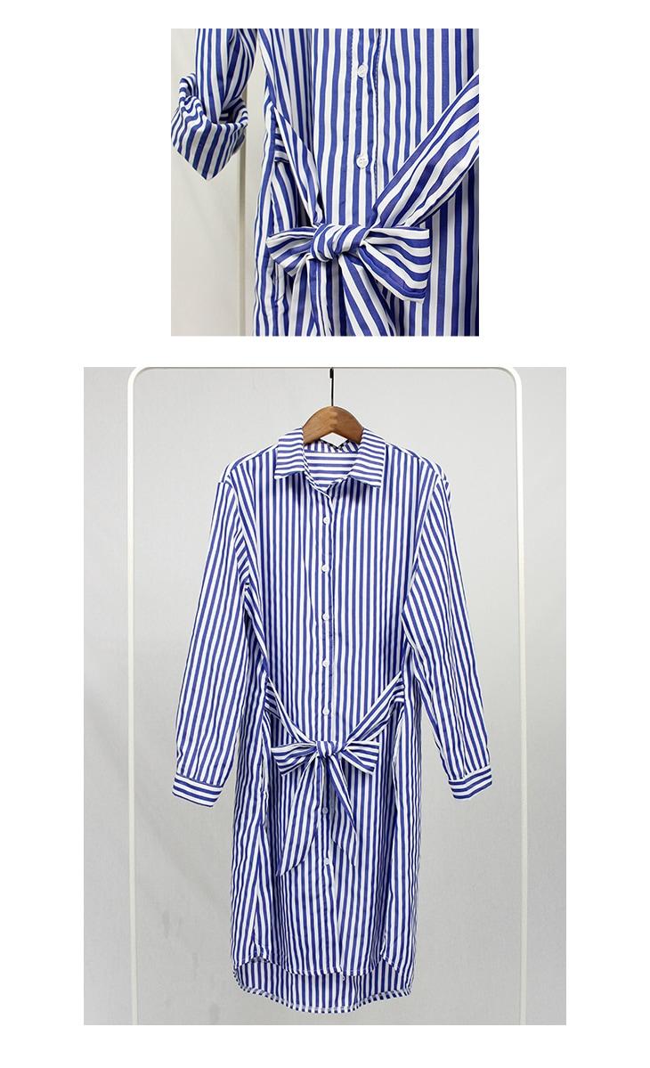 ストライプシャツワンピース[マタニティ服]18c21