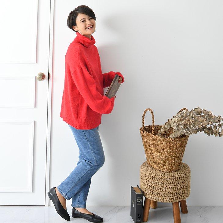 裏起毛テーパードデニム【マタニティ服】18d05