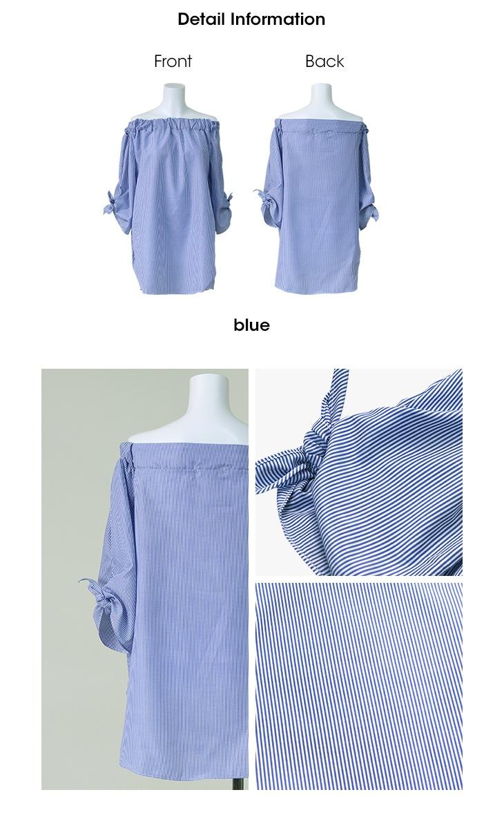 袖リボンオフショルダー[マタニティ服]61k-3116