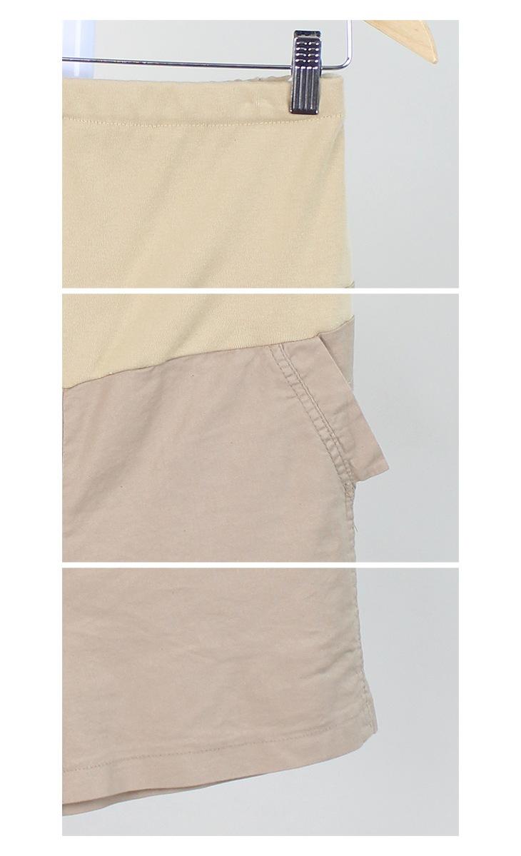 ストレッチリネンハーフパンツ[マタニティ服]61k-3120