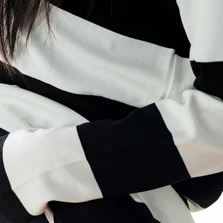 大人ボーダートップス[マタニティ服]61k-3142