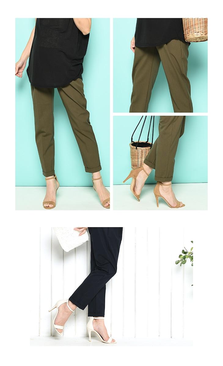 春夏スラックスパンツ[マタニティ服]61k-3153