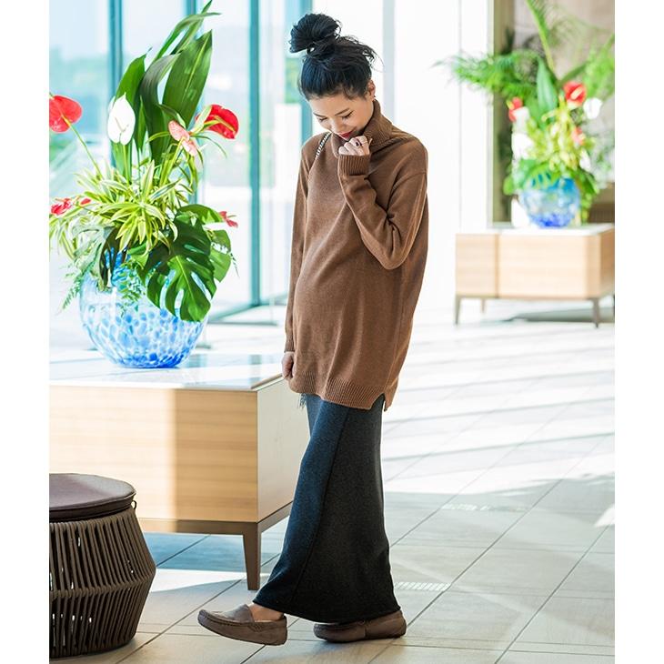 裏起毛ロングスカート【マタニティ服】61k-3206