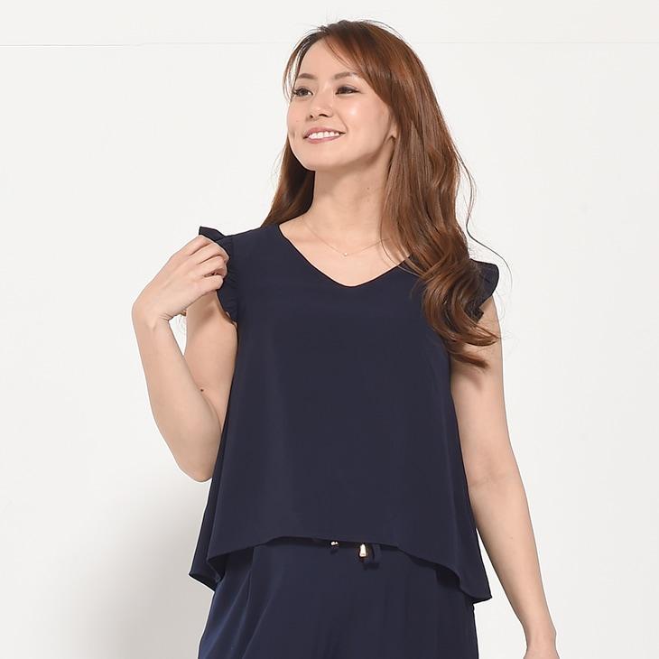 授乳セットアップパンツドレス【マタニティ服/授乳服】71c-1111