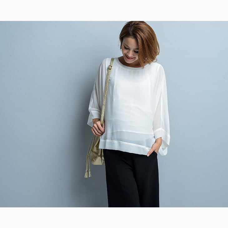 授乳エレガントシースルートップス【授乳服】71c-1115