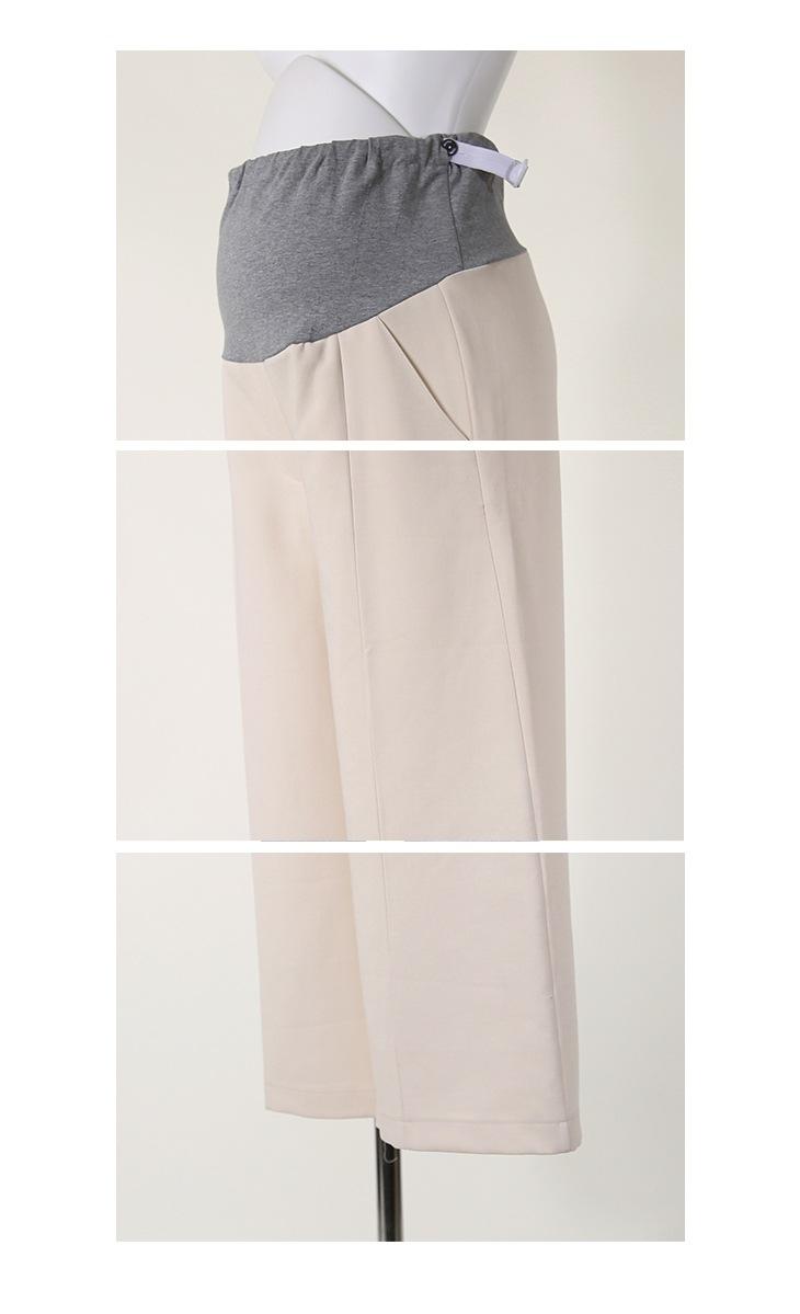 スラックスワイドパンツ【マタニティ服】71k-3235