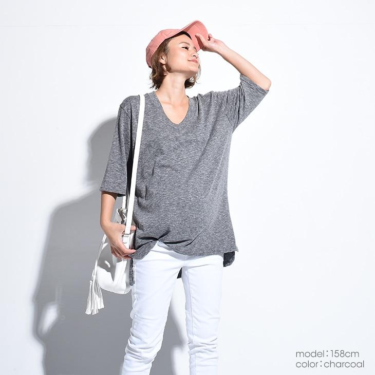 七分スモーキーカラーT【マタニティ服】71k-3245