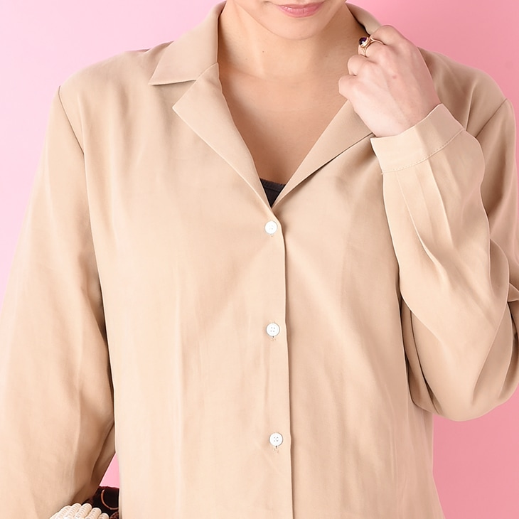 授乳ロングシャツワンピース【マタニティ服/授乳服】71k-3285