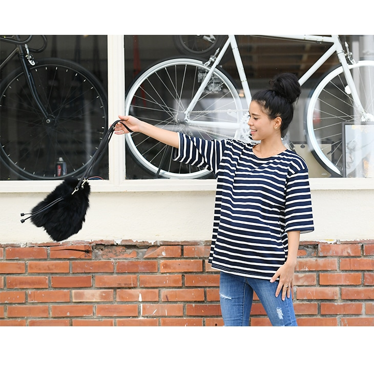 七分ボーダーカットソー【マタニティ服】71k-3286