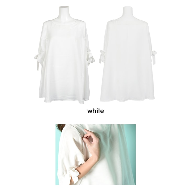 リボンショートスリーブブラウス[マタニティ服]71k-4001