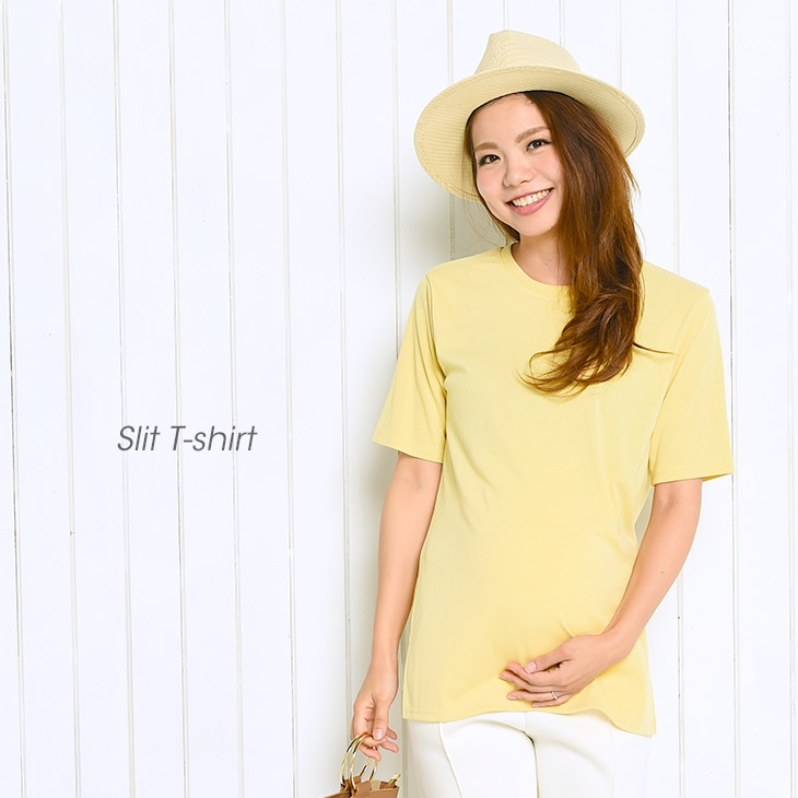 スリットTシャツ/71k-4011