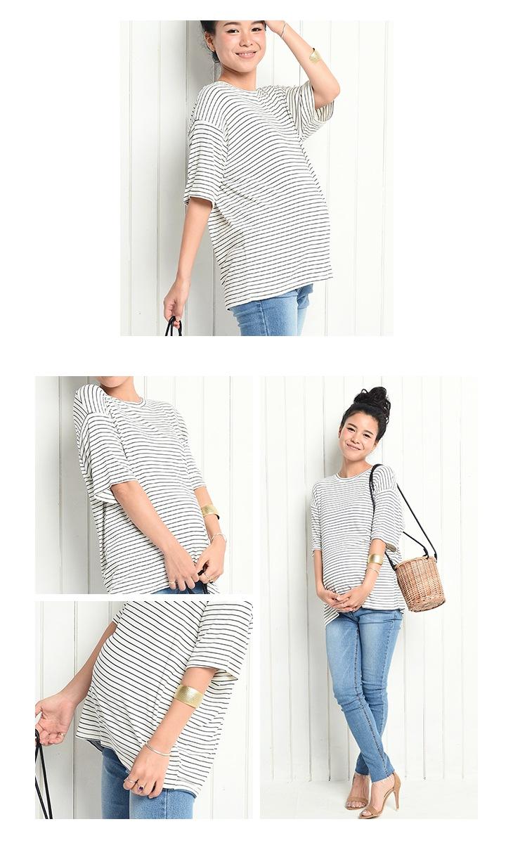 柔らかボーダーTシャツ/71k-4013