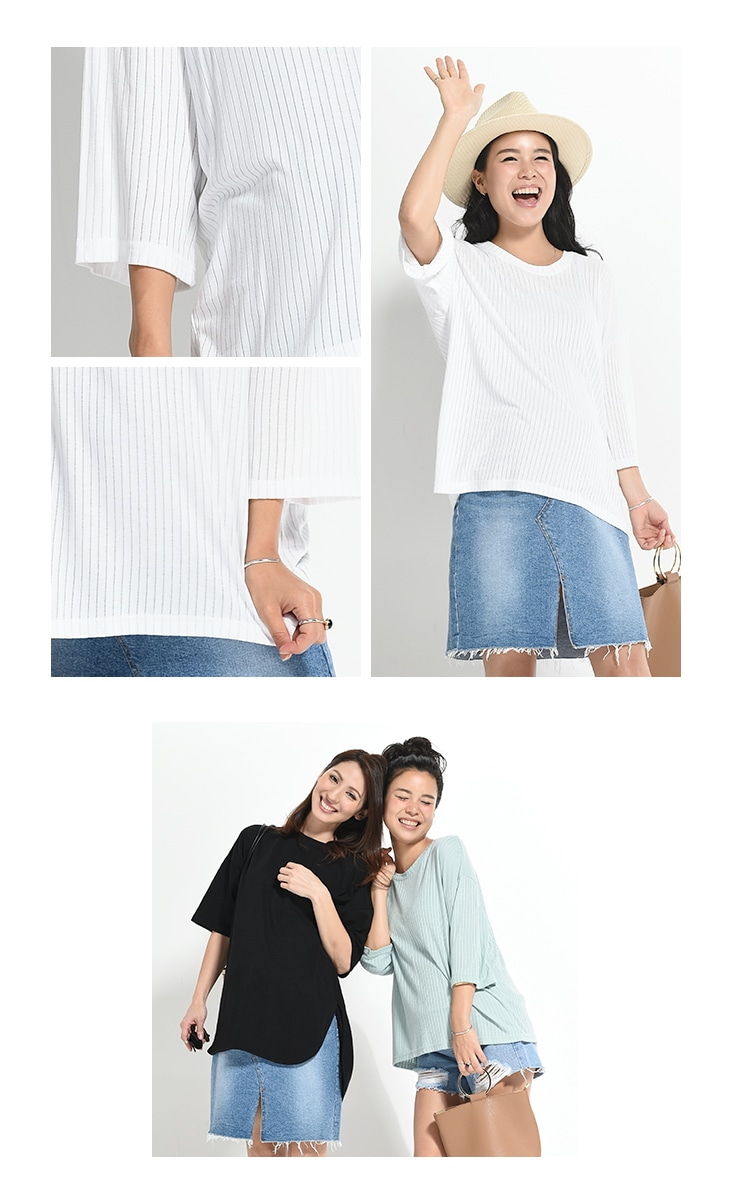 リブTシャツ/71k-4015