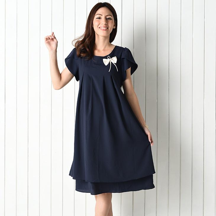 フォーマルリボンワンピース[マタニティ服]71k-4103