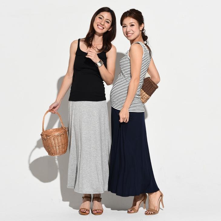 ロングスカート[マタニティ服]71k-4115