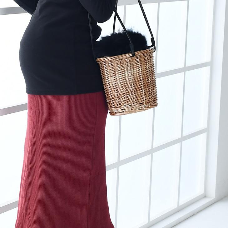 リブスカート[マタニティ服]71k-4128