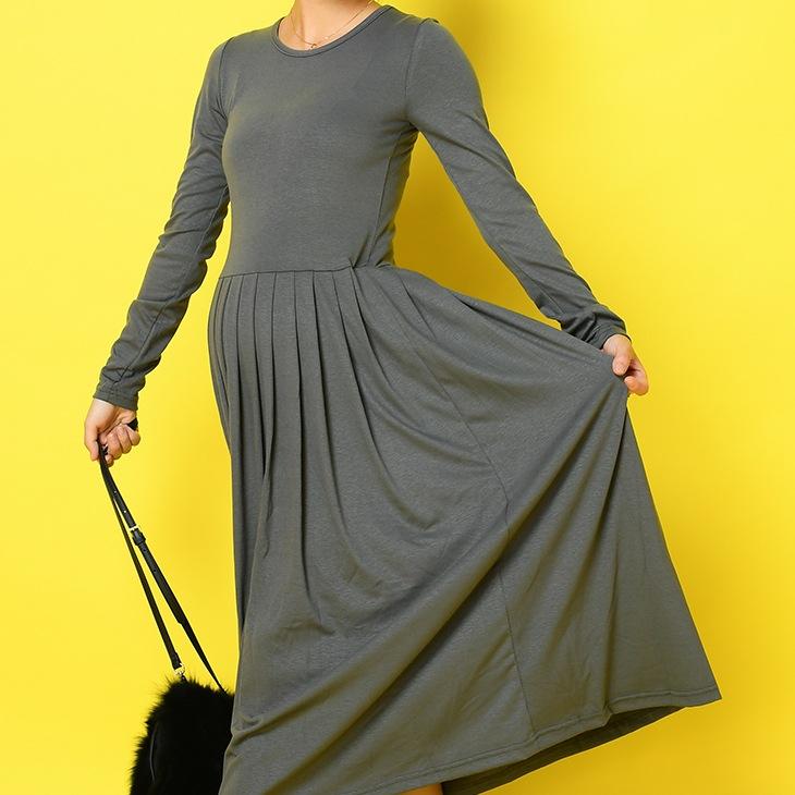 ウエストプリーツワンピース[マタニティ服]71k-4136