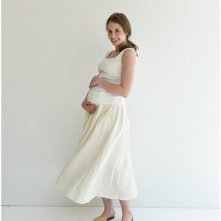 産前産後リネンスカート/81m22