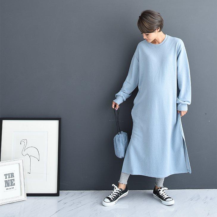 裏起毛裾メロウリブレギンス【マタニティ服】81m68