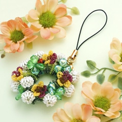シロツメクサの花冠ストラップorブローチ