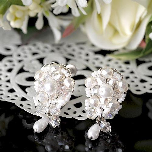 Beads Jewelry Mariage〜マリアージュ〜(イヤリング&ラベルピン)