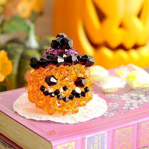 かぼちゃのキャンディバスケット