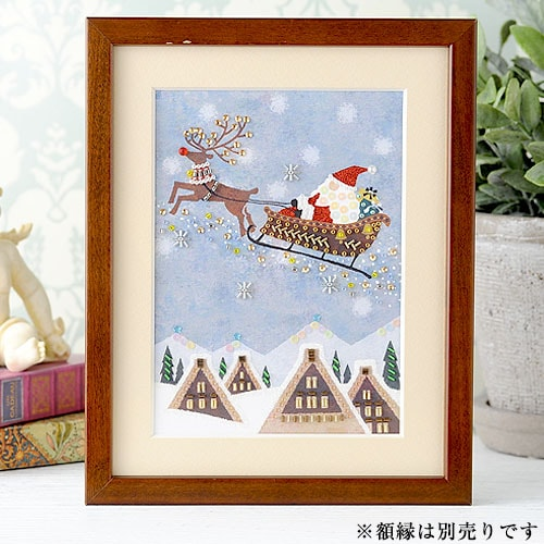 〜Beads Decor〜サンタクロースとトナカイ(師走・12月) ※額は別売り