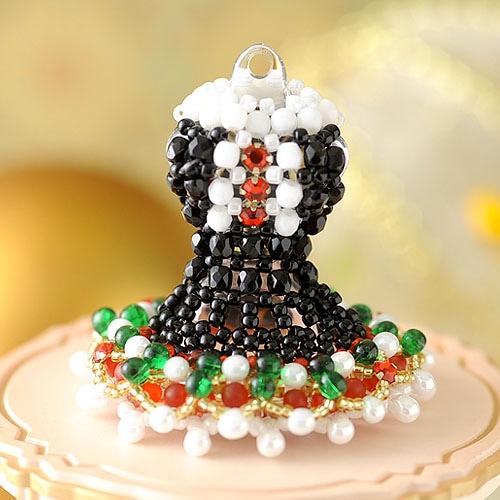 【ミニチュアドレスチャームキット】Christmas Party ブラック