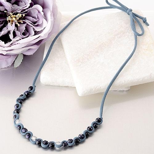 シンプルラインネックレス(ブラック)