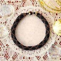 ダイヤ柄ブレスレット ブラック