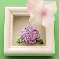 Hydrangea 紫陽花ブローチ パープル