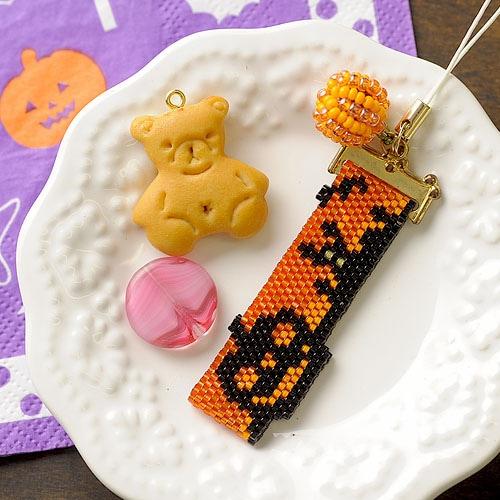 ハロウィンストラップ かぼちゃ オレンジ
