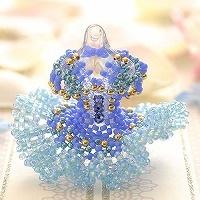 【ミニチュアドレスチャームキット】blue bird