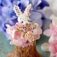 季節限定品!!紫陽花☆ラビ(ピンク)
