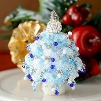 クリスマスツリーチャーム(ブルー)