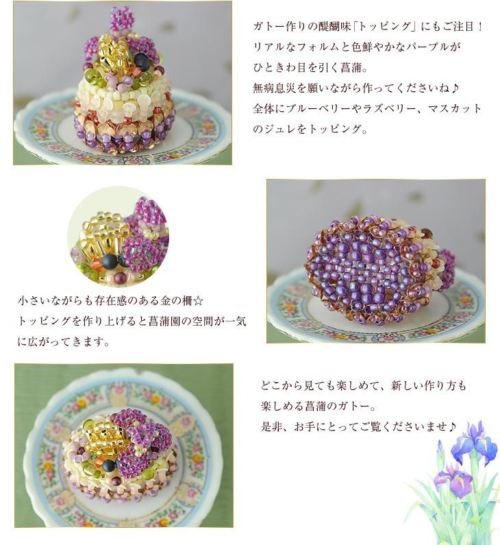 ガトー・ドゥ・イリス  菖蒲 ケーキ ハンドメイド