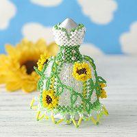 【ミニチュアドレスキット】Sunflower/ヒマワリ(グリーン)