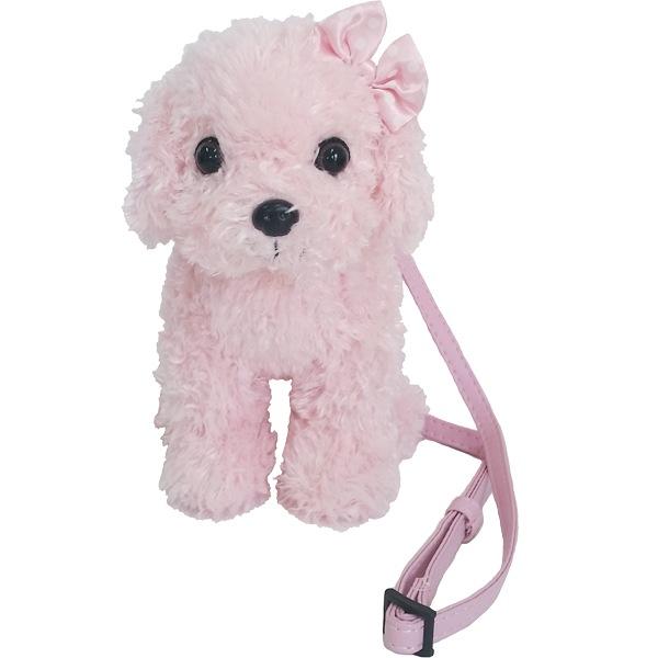 子犬みたいに小さくてかわいいぬいぐるみ型ミニポシェット。