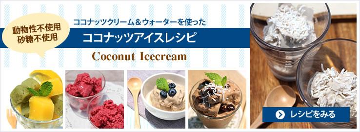ココナッツアイスクリームレシピ