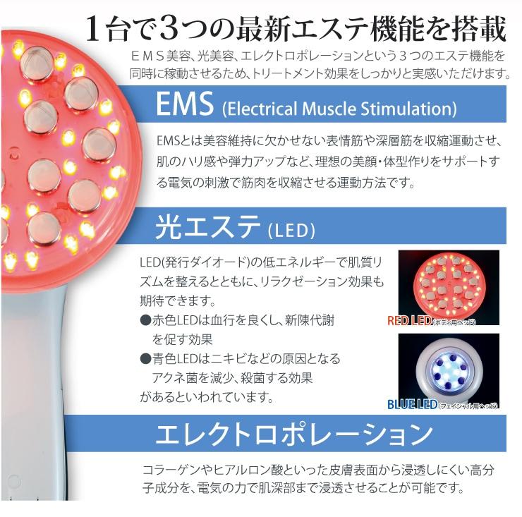 エステ美顔器ハリマニックのエステ機能