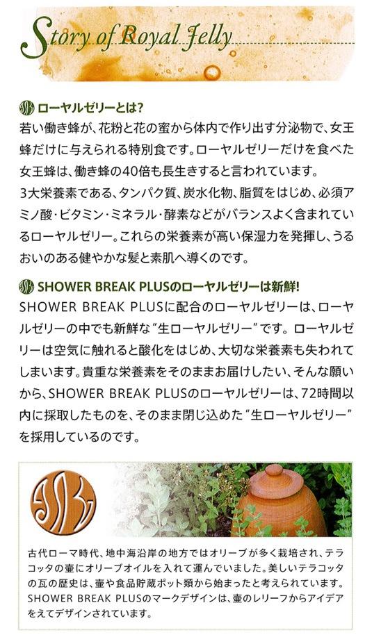 シャワーブレイクは、豊富な要素を含み高い保湿力を持つコラーゲンの中でも特に新鮮な「生コラーゲン」を使用しています