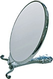 折りたたむとスタンドミラーにもなる装飾手鏡