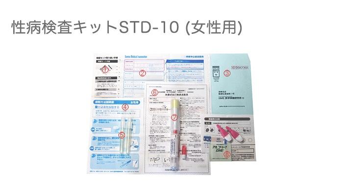 性病検査キットSTD-10(女性用)