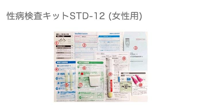 性病検査キットSTD-12(女性用)