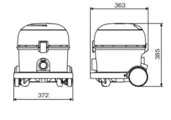 コンドル 乾式掃除機 CVC-301X サイズ