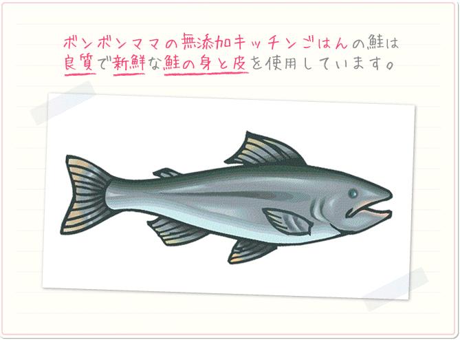 ボンボンママの無添加キッチンごはんの鮭は良質で新鮮な鮭の身と皮を使用しています。