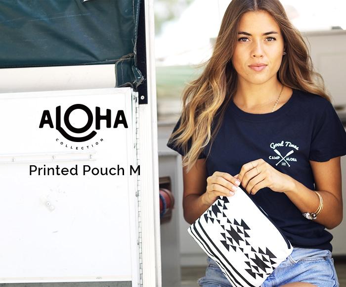 アロハコレクション/【M】Aloha Collection Pouch Printed 撥水ポーチ Mサイズ