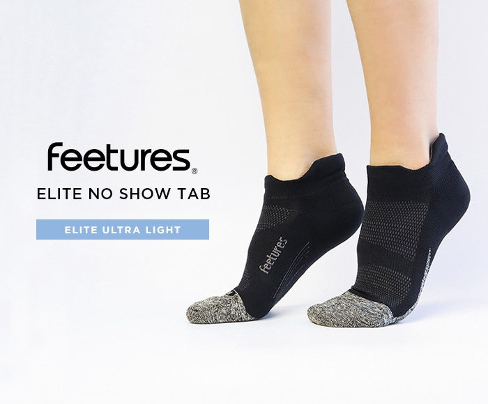フィーチャーズ/Feetures ELITE ULTRA LIGHT NO SHOW TAB ランニングソックス